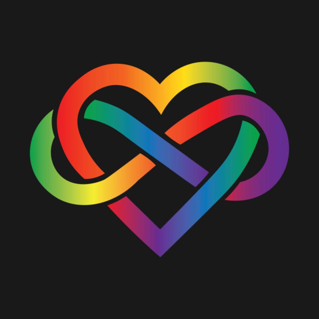 TeePublic: Rainbow Infinity Heart