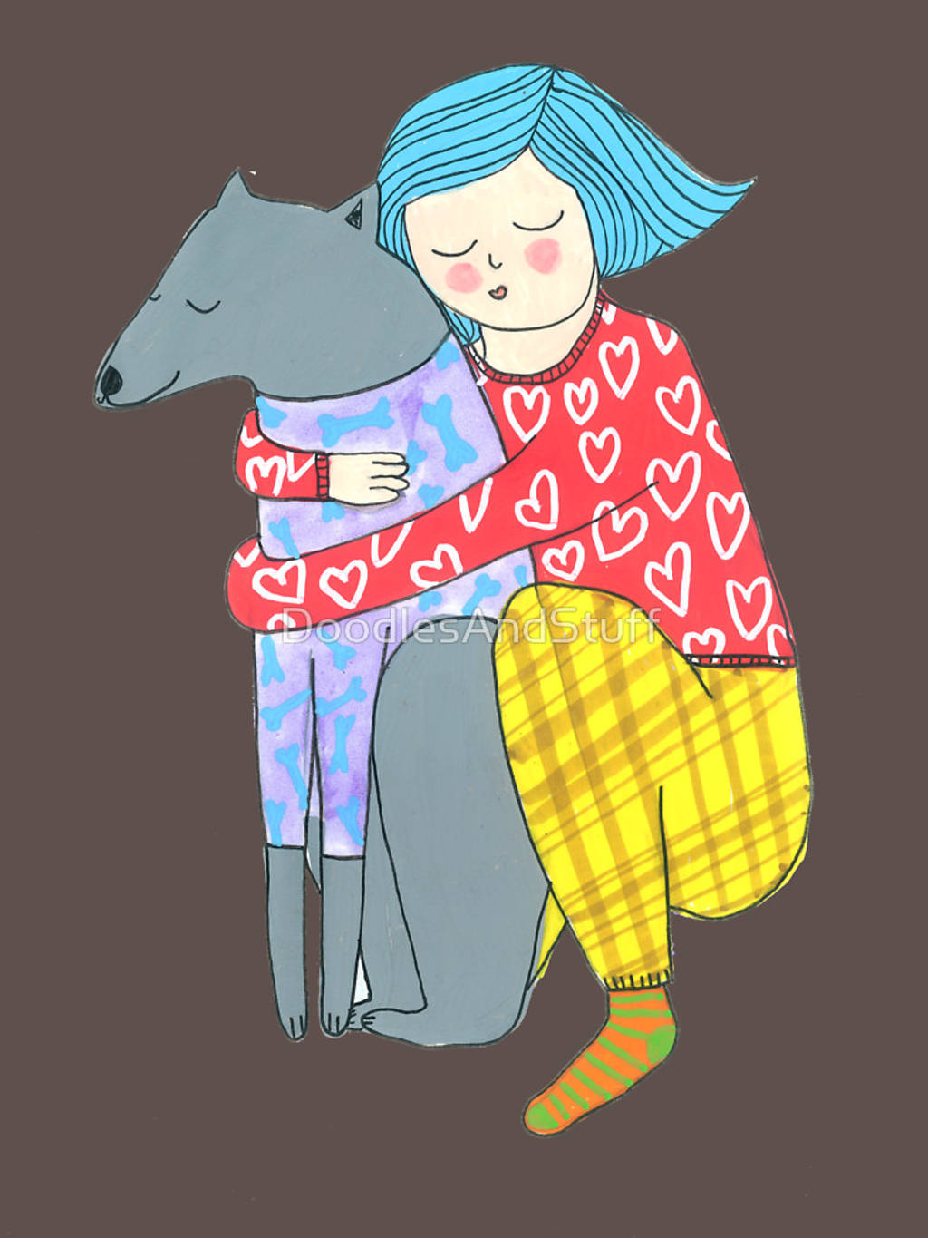 RedBubble: Girl and her dog