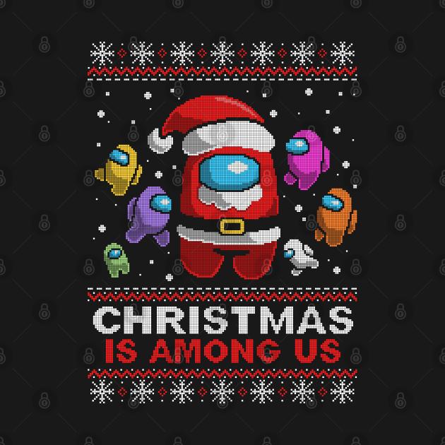 TeePublic: among us ugly christmas sweater