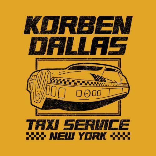 Five Finger Tees: Korben Dallas Taxi Service T-Shirt