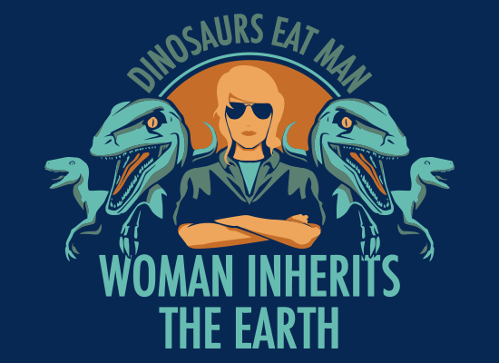 SnorgTees: Woman Inherits The Earth