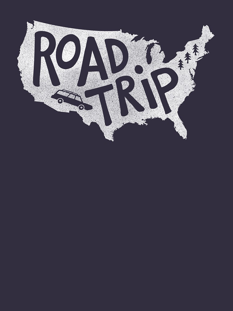 RedBubble: Road Trip USA - blue