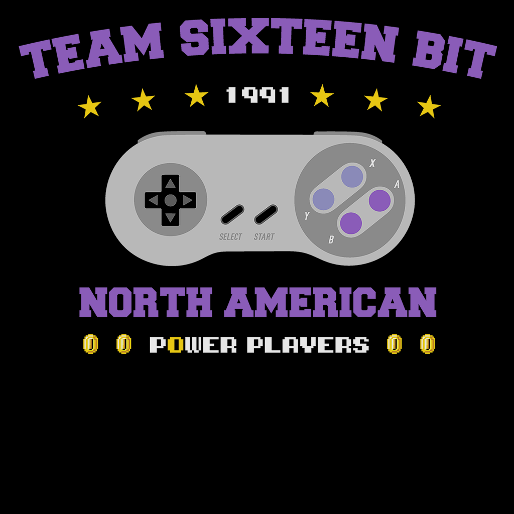 Pop-Up Tee: Team 16 Bit Power Players
