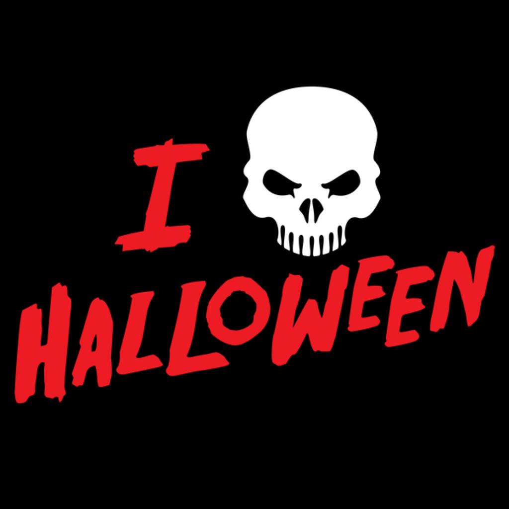 NeatoShop: I Love Halloween Spooky Skull