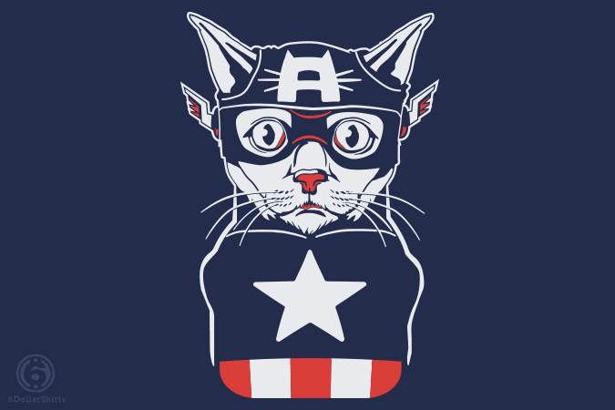 6 Dollar Shirts: Captain Ameri-Cat