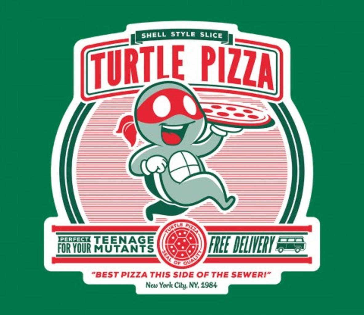 TeeFury: Turtle Pizza
