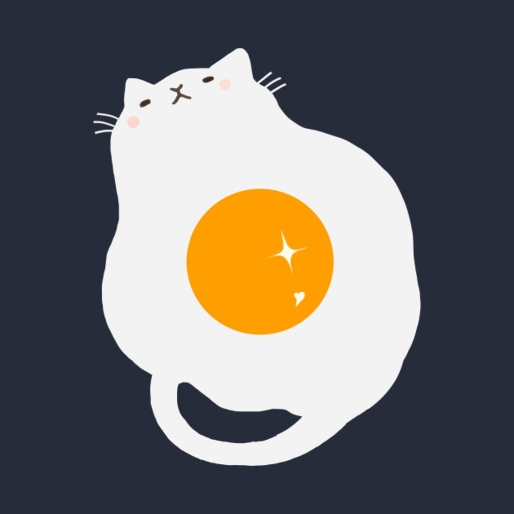 TeePublic: egg-cat. T-Shirt