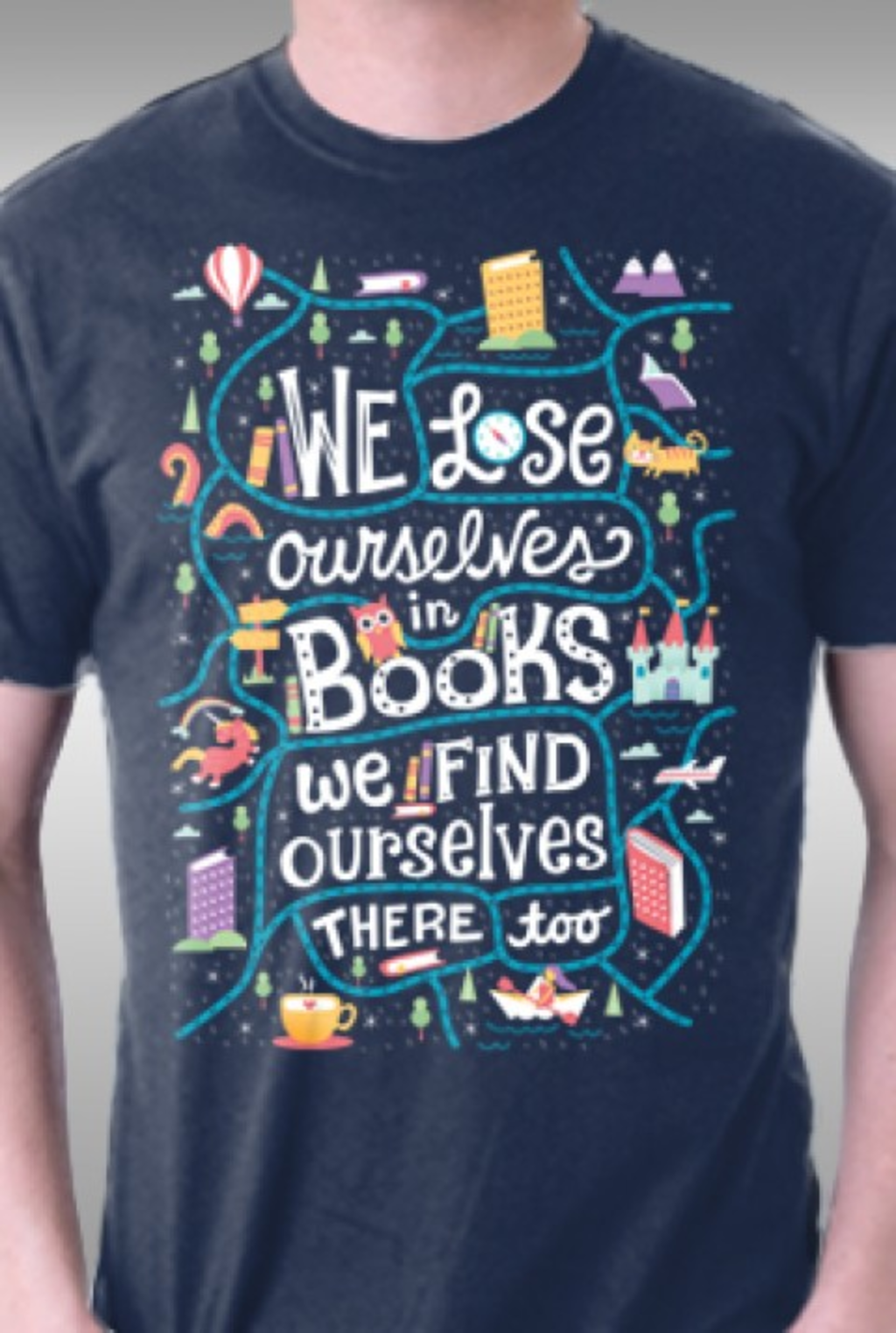 TeeFury: We Lose Ourselves in Books