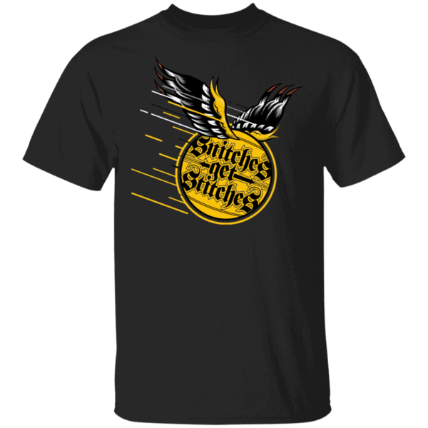 Pop-Up Tee: Snitches Get Stitches