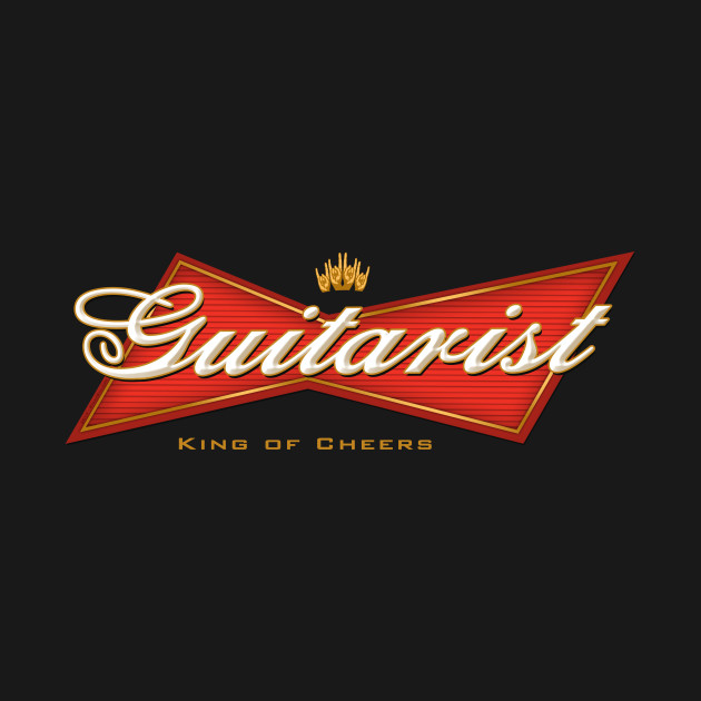 TeePublic: Guitarist - King of Cheers