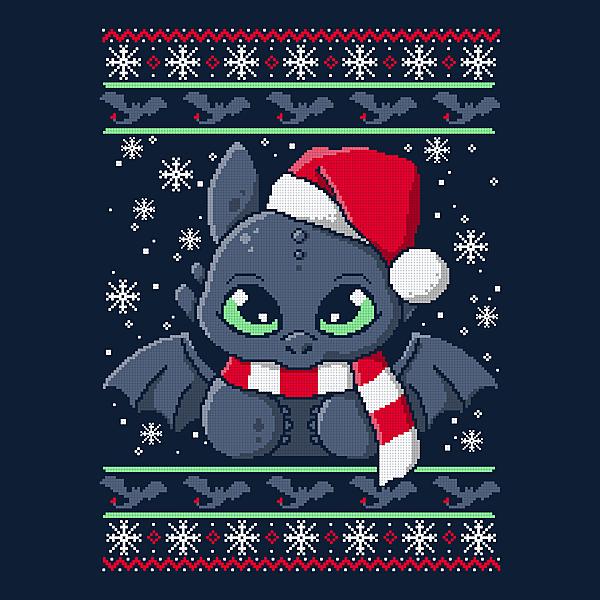 NeatoShop: Dragon night fury ugly christmas sweater