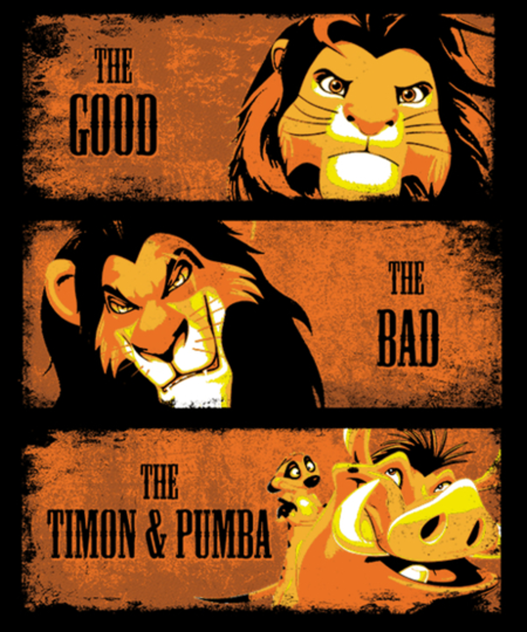 Qwertee: The Good, The Bad, The Timon&Pumba