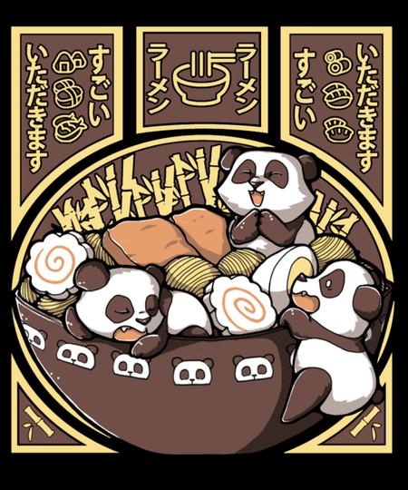 Qwertee: Panda Ramen