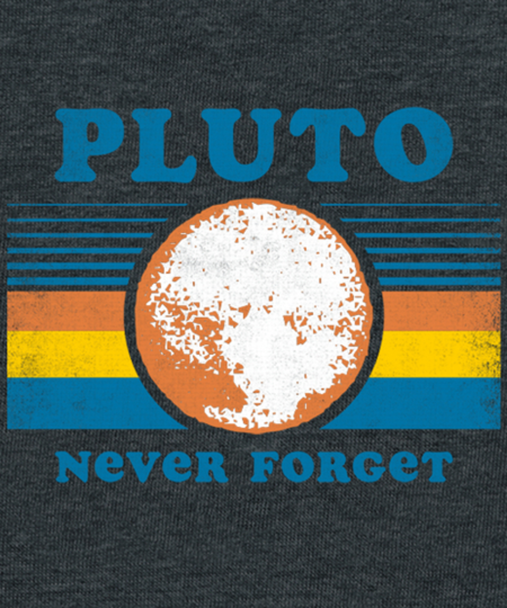 Qwertee: Pluto Never Forget