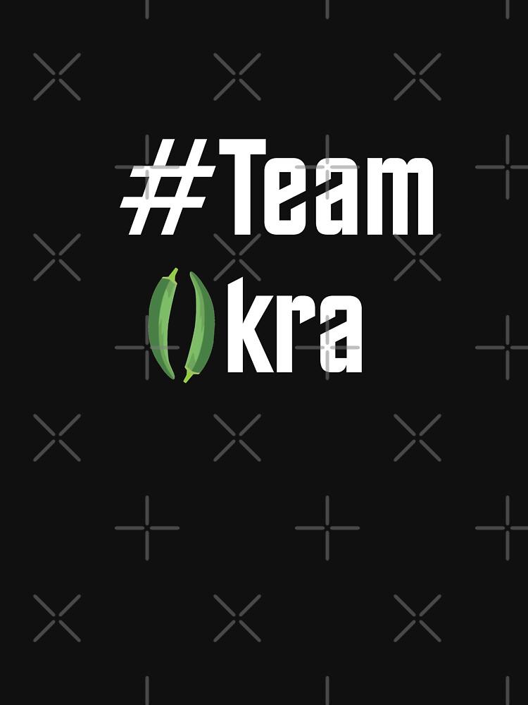 RedBubble: # Team Okra - White