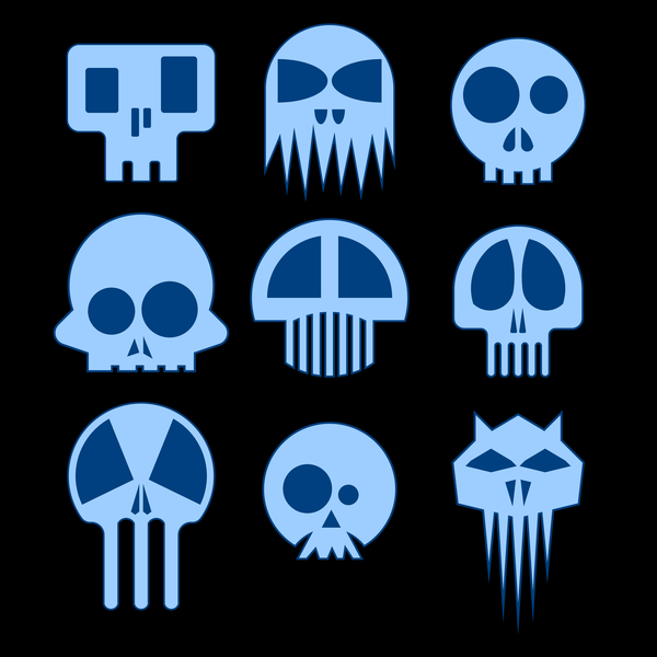 NeatoShop: Nine Blue Skulls