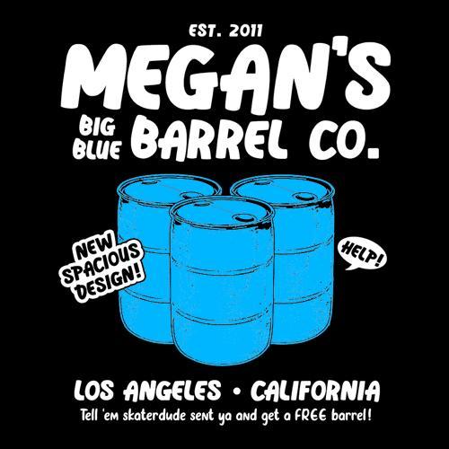 Five Finger Tees: Megan's Big Blue Barrel Co. T-Shirt