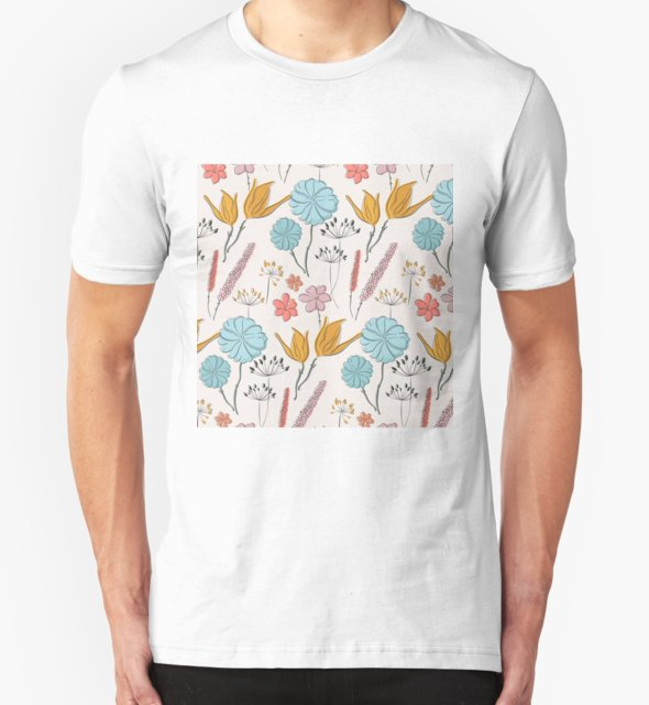 RedBubble: Summer flower print