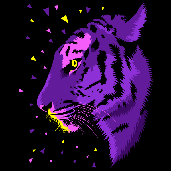 NeatoShop: Psychedelic Tiger