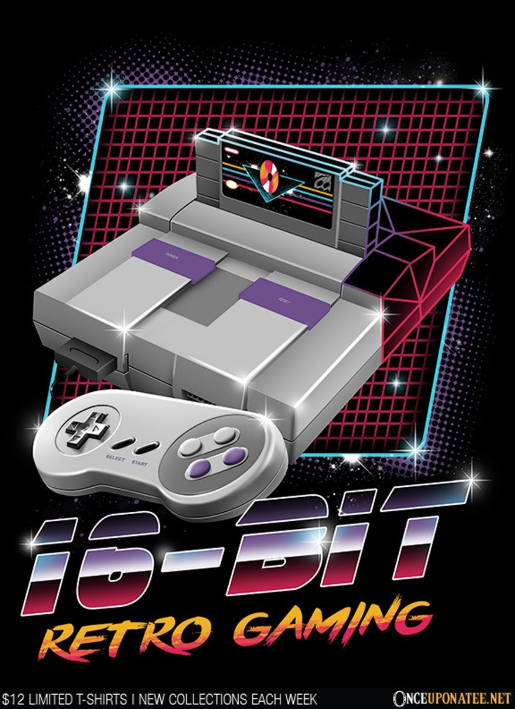 Once Upon a Tee: 16-Bit Retro Gaming