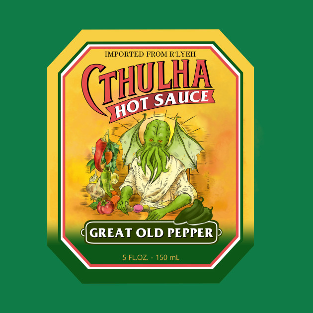 TeePublic: Cthulha (Great Old Pepper)