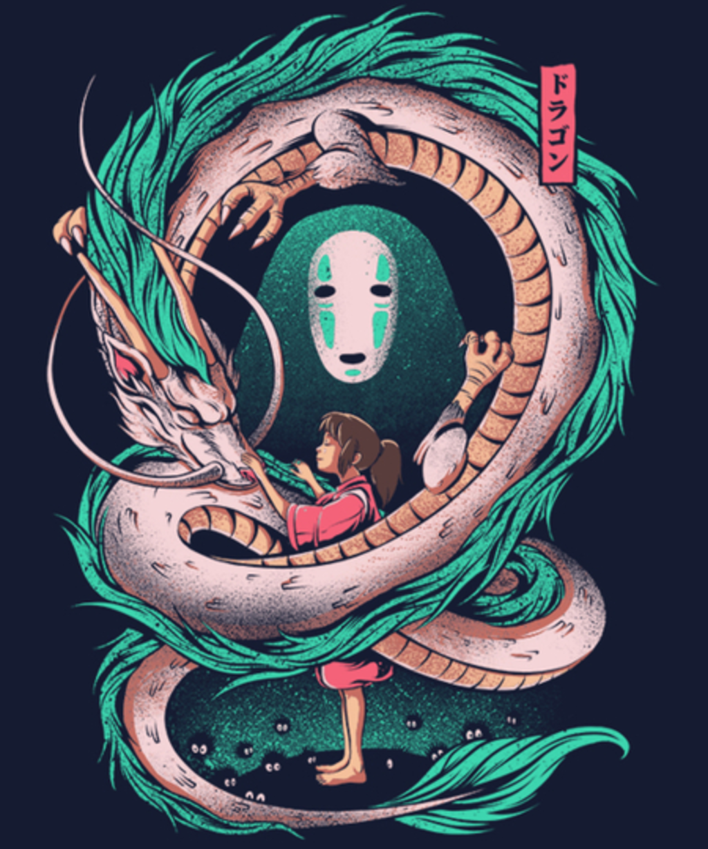 Qwertee: The Girl and the Dragon
