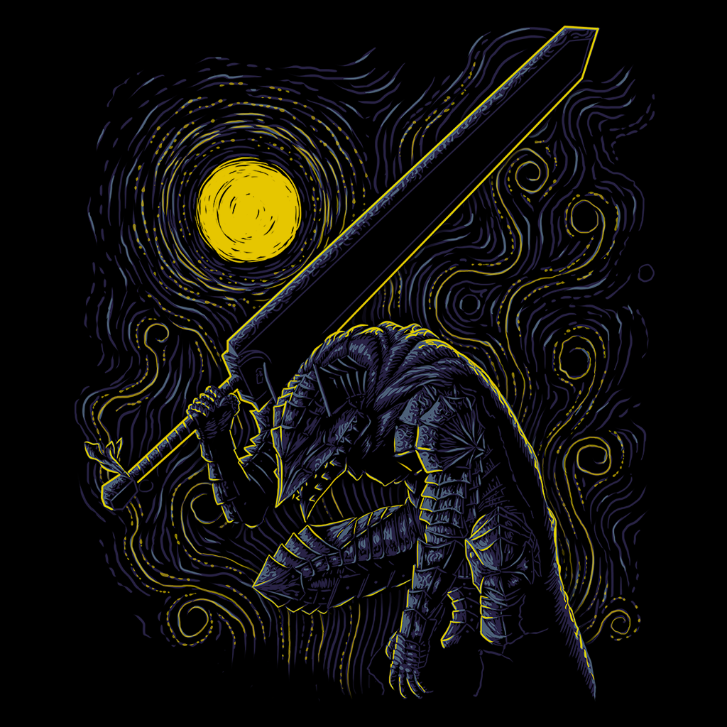 Pop-Up Tee: Impressionist Swordman