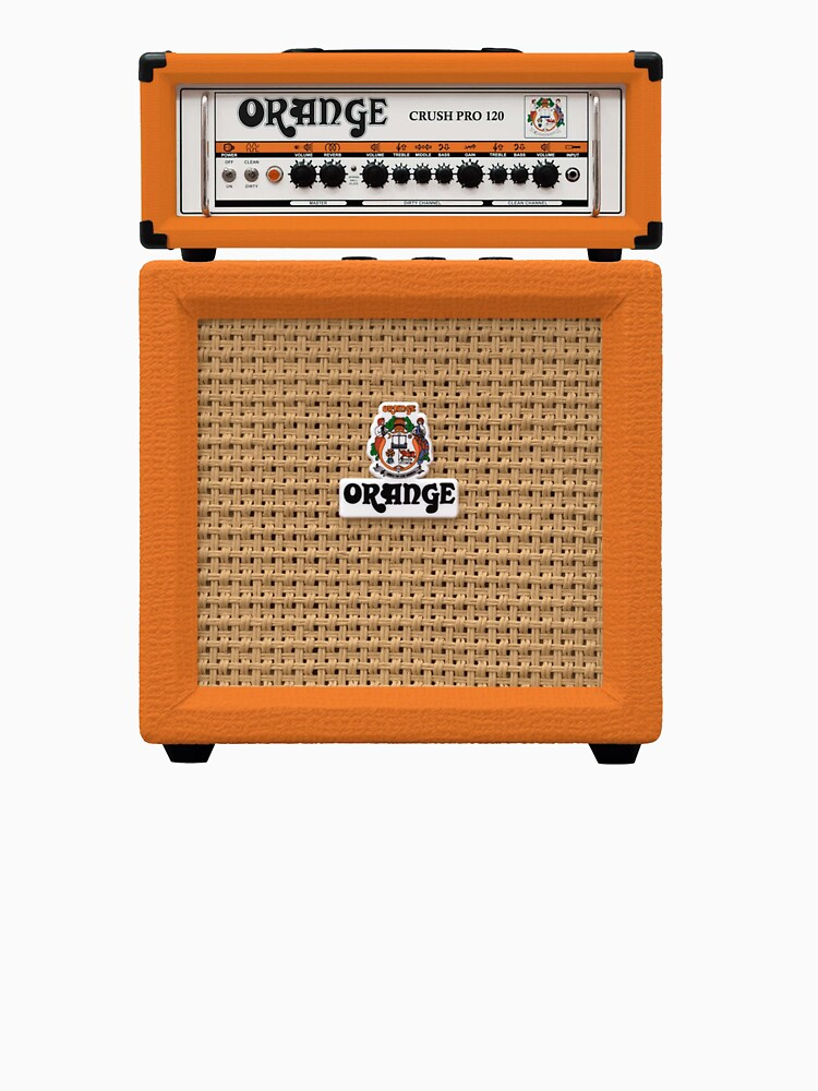 RedBubble: Orange colour electric guitar amp
