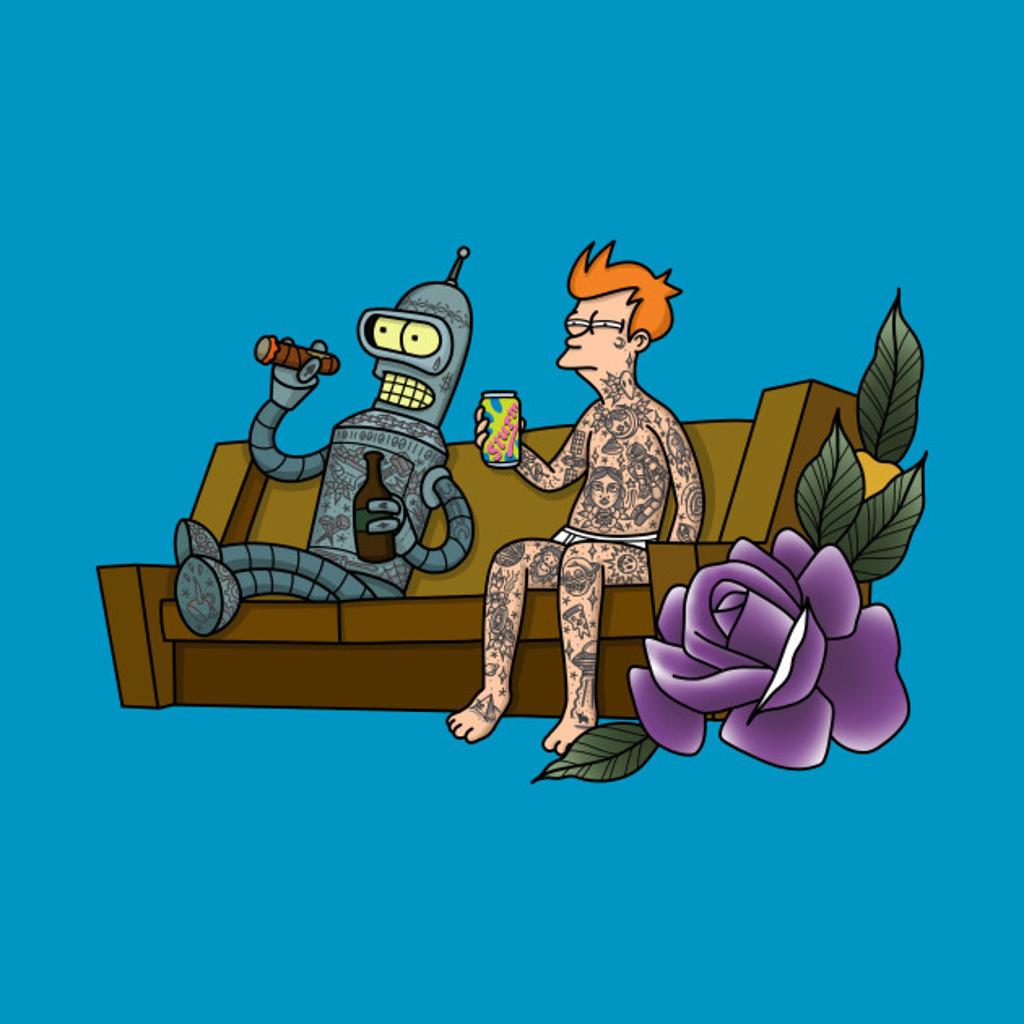 TeePublic: Bender and Fry