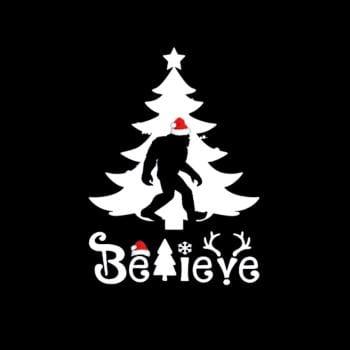 BustedTees: Bigfood Sasquatch Believe Christmas