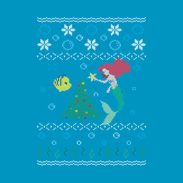 TeePublic: Ugly Christmas Sweater - The Little Mermaid T-Shirt