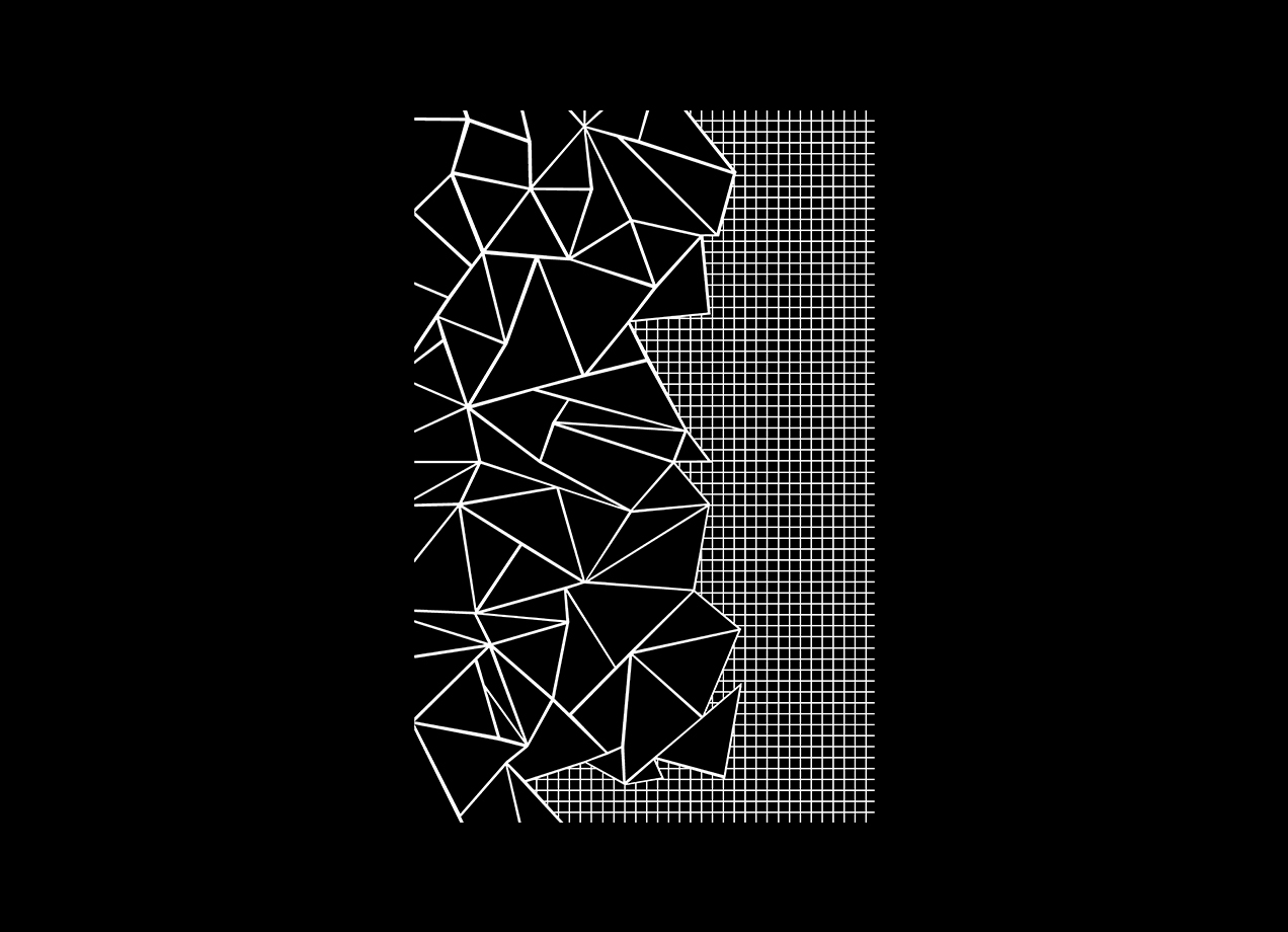 Threadless: Ab Outline Grid on Side Black