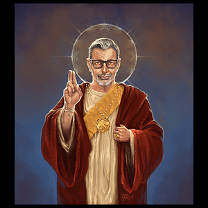 NeatoShop: Saint Jeff of Goldblum Patron Saint of Mmmm Yes Yes