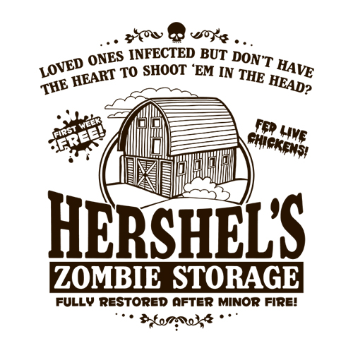 Five Finger Tees: Hershel's Zombie Storage