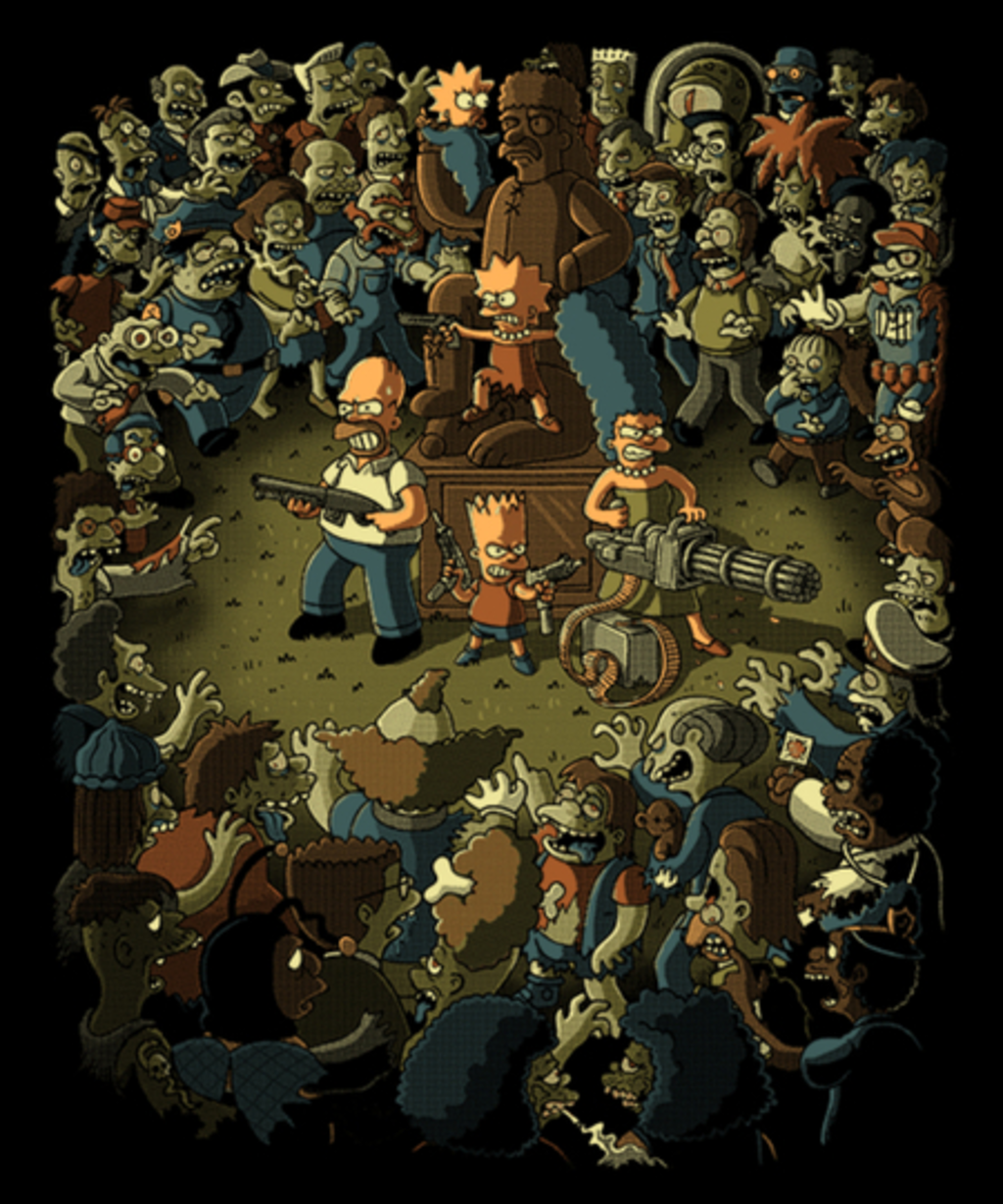 Qwertee: Zombies in Springfield