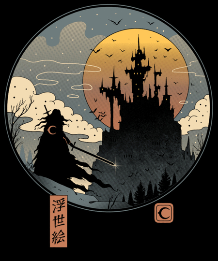 Qwertee: Vampire Slayer in Edo