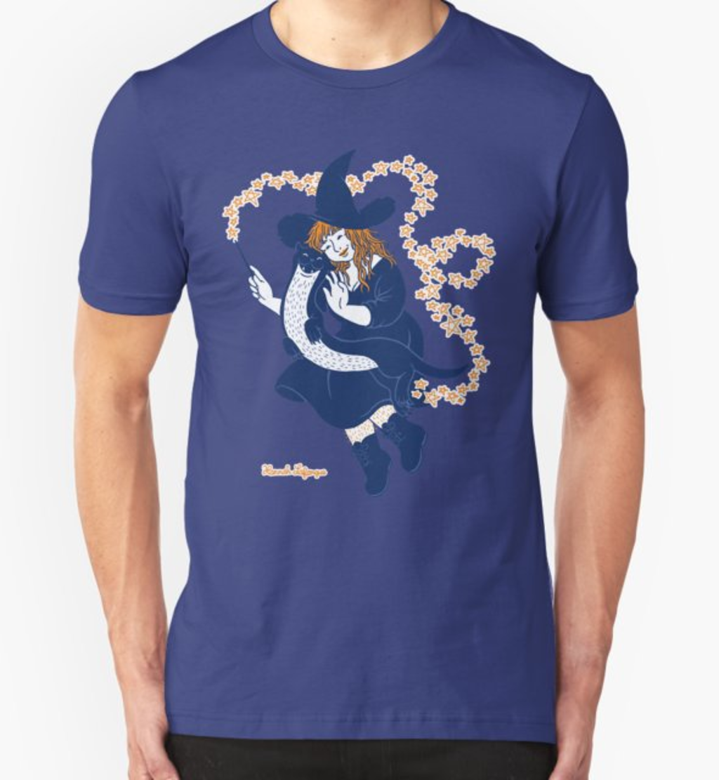 RedBubble: Cute witch and her otter