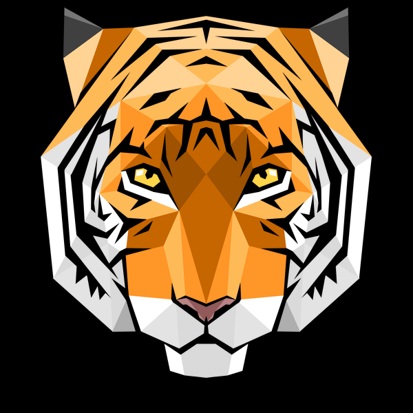 NeatoShop: Tiger crystal polygons