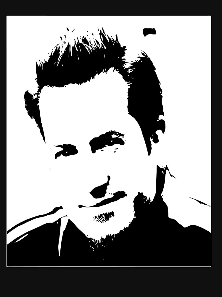 RedBubble: Mark Brooks portrait, black and while,