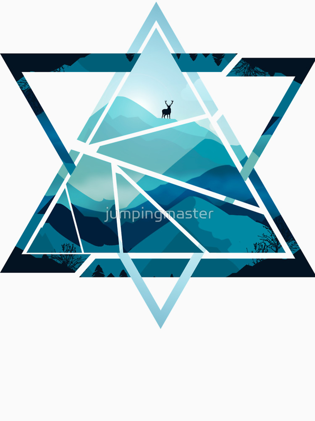 RedBubble: Triangle Mountains Version 1