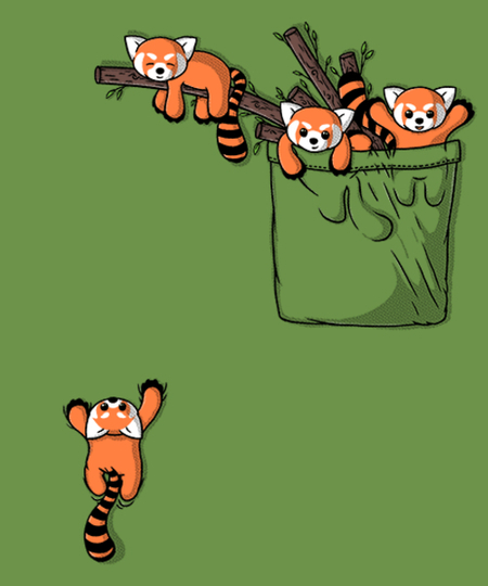 Qwertee: Pocket Red Pandas