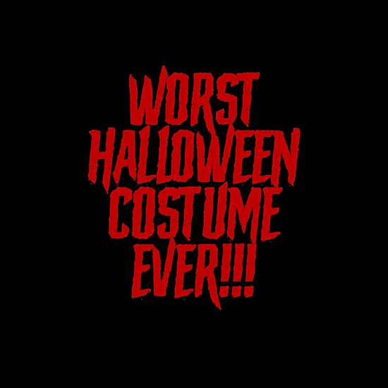 BustedTees: Worst Halloween Costume Ever