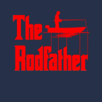 BustedTees: The Rodfather. Funny Fishing Tshirt for Fisherman