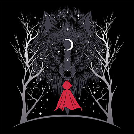MeWicked: Red Riding Hood and Ghost Wolf at Night