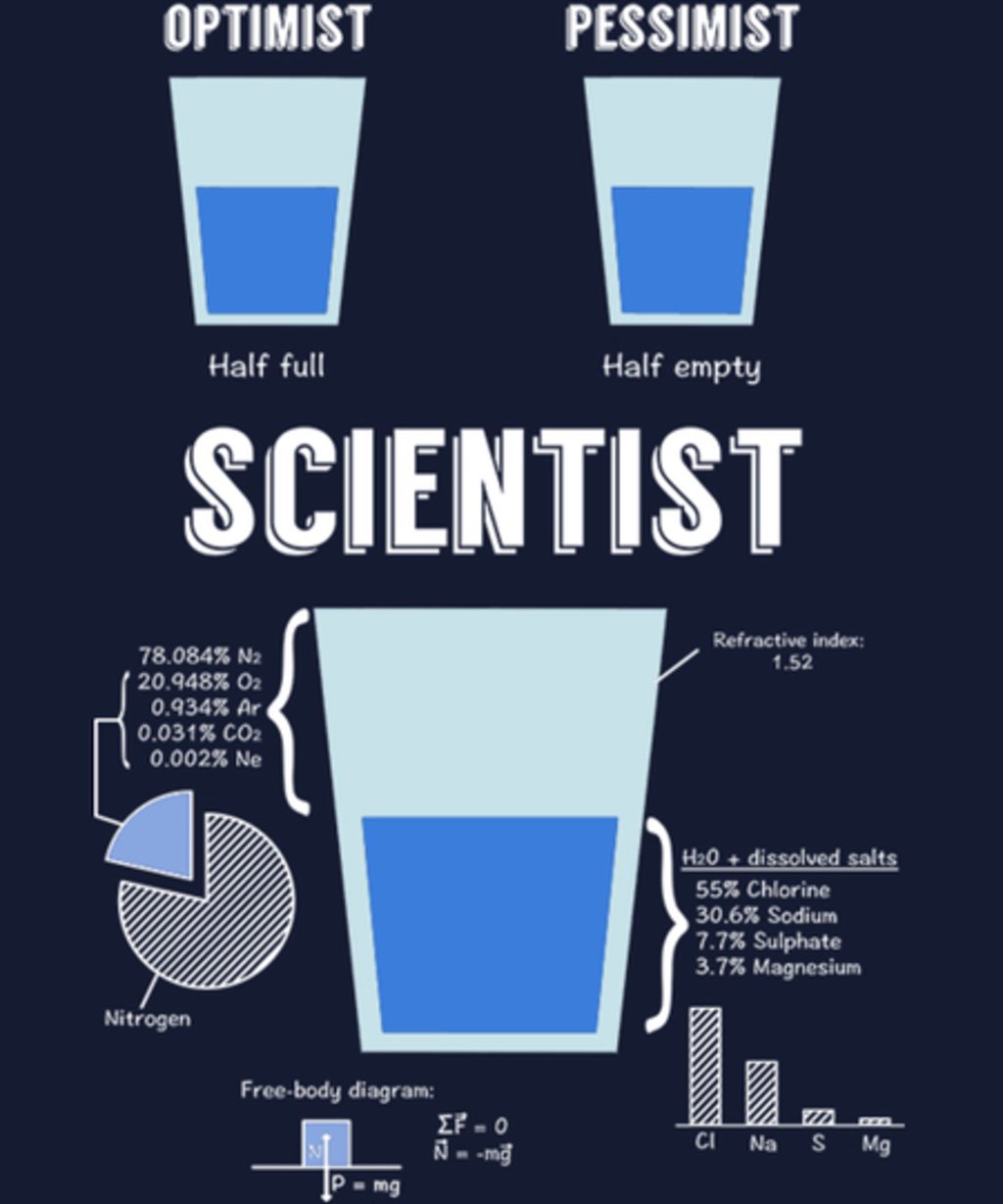 Qwertee: Optimist, pessimist, SCIENTIST!