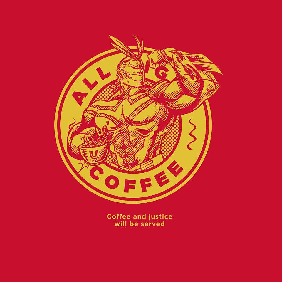 TeeFury: All Might Coffee
