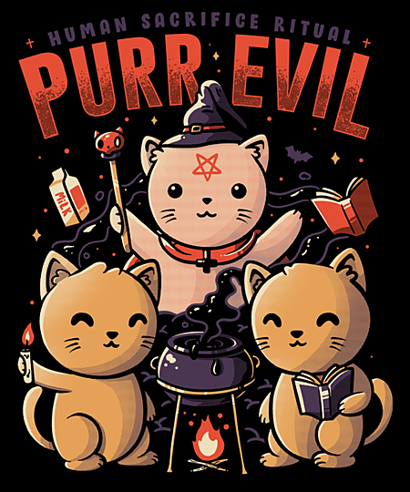 Qwertee: Purr Evil