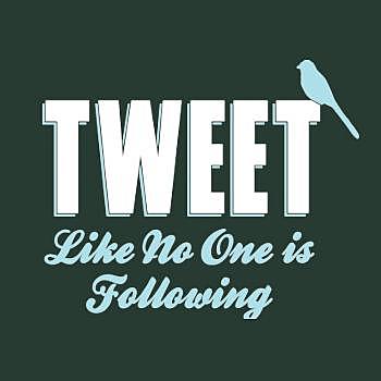 BustedTees: Tweet Like No One Is Following Hoodie
