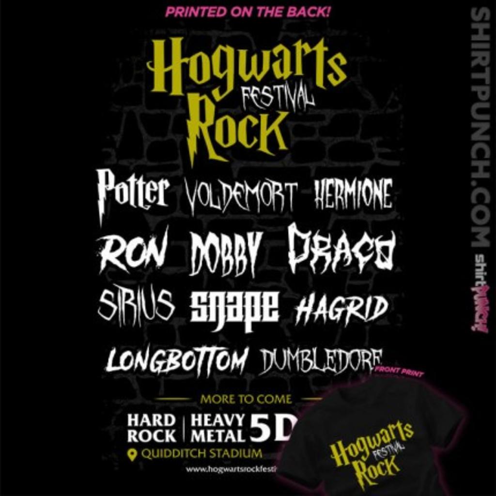 ShirtPunch: Hogwarts Rock Festival