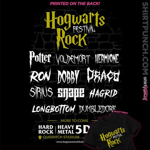 ShirtPunch: Hogwarts Rock Festival